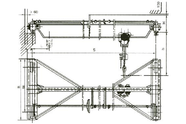 Manual Single Girder Overhead Crane