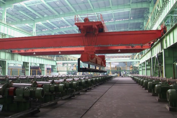 Intelligent Steel-Pipe Distribution Overhead Crane