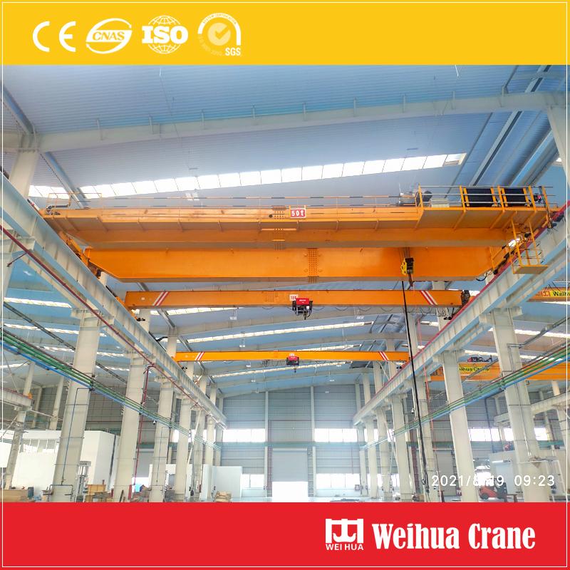 50t-overhead-crane-installation-Mexico