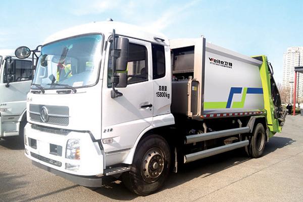 Compressed-garbage-truck