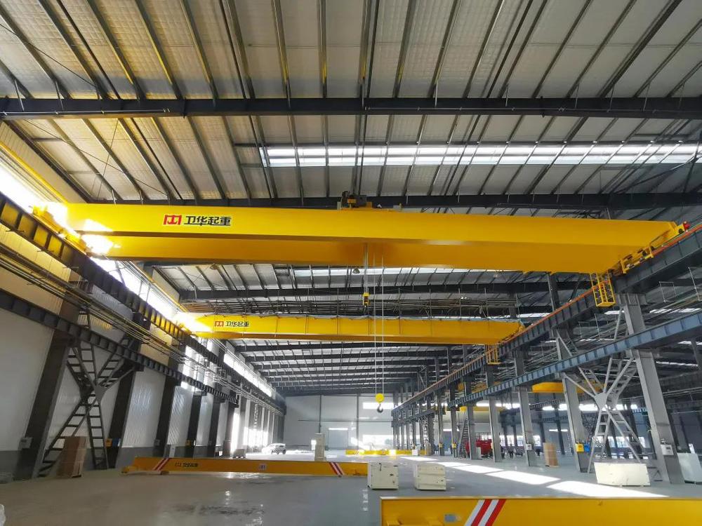 Double-girder-overhead-crane-at-weihua-workplant