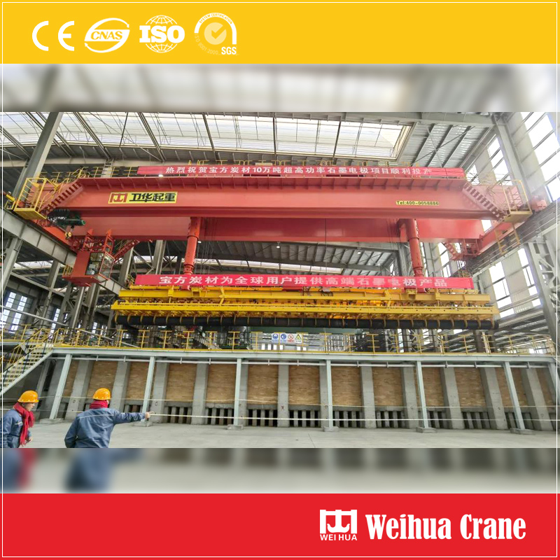 Graphite-electrode-overhead-crane