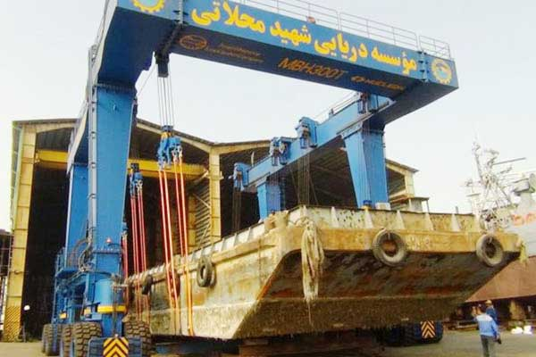 Launch of 300t Boat/Yacht Crane (MBH300t) in Iran
