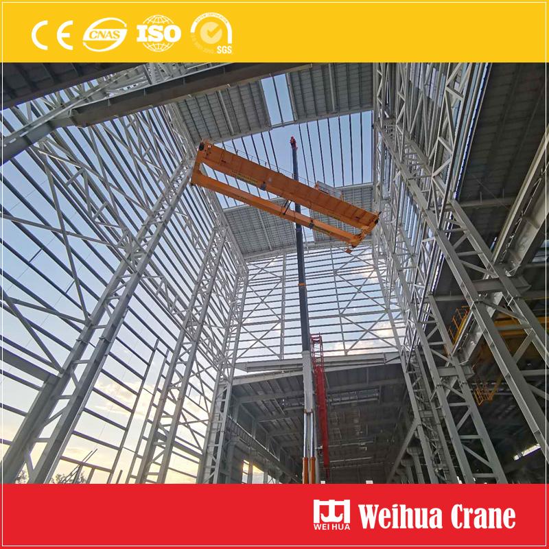double-girder-overhead-crane-installation-Cambodia