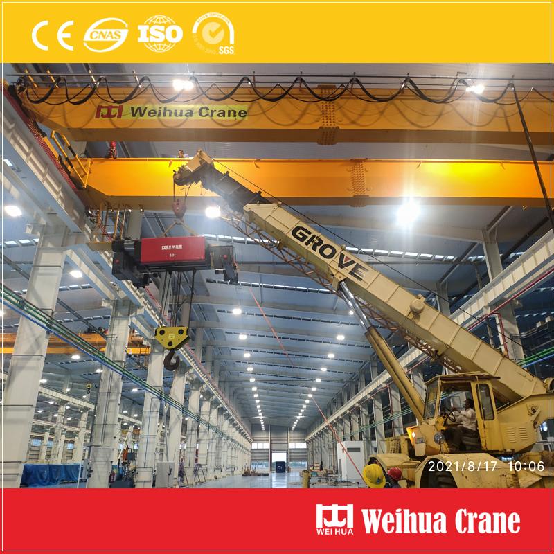 double-girder-overhead-crane-installation-Mexico