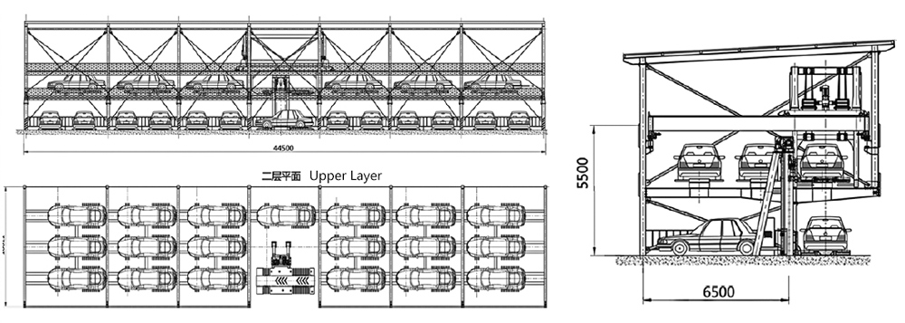 double-layer-parking-drawing