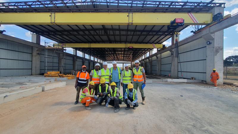 overhead-crane-installation-in-Tanzania