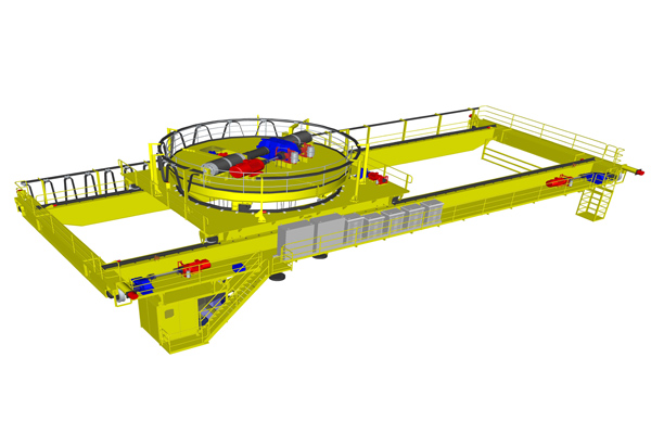 overhead-crane-magnetic-spreader