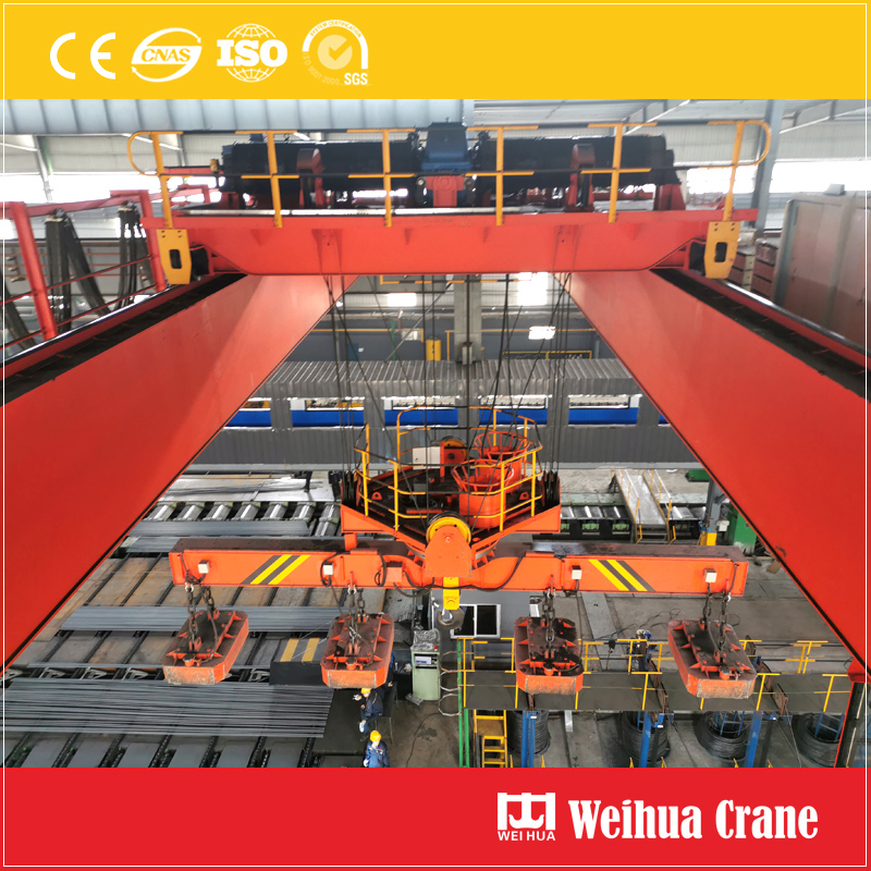 overhead-crane-with-rotary-electromagnetic-device