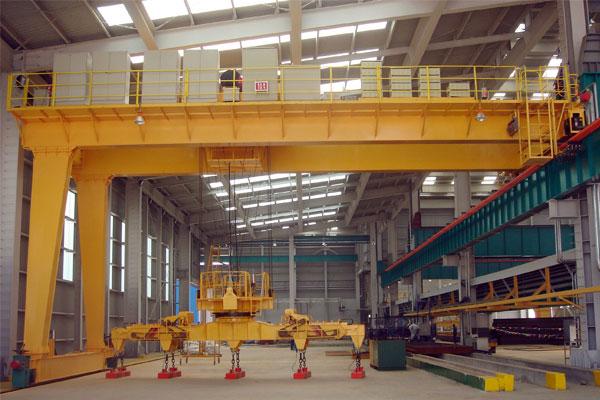 semi-gantry-crane-electromagnetic-sling