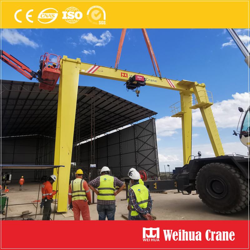 single-girder-gantry-crane-installation