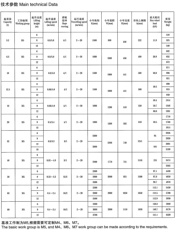 trolley-hoist-data